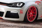 Low-Car-Scene BlackBox VW Volkswagen Golf Light Tron Rotiform SNA Airride Phospor Folie Rad Felge