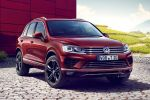 VW Volkswagen Touareg Executive Edition SUV Offroader V6 TDI Malbec Red Mallory 4Motion Allrad Front Seite