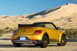 VW Volkswagen Beetle Dune Cabrio Crossover Offroad Canyon Käfer Sandstorm Yellow Metallic Internet Smartphone App Connect Konnektivität Heck Seite