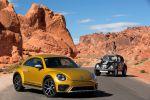 VW Volkswagen Beetle Dune Coupe Cabrio Crossover Offroad Canyon Käfer Sandstorm Yellow Metallic Internet Smartphone App Connect Konnektivität Front Seite Dune Buggy