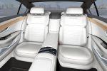 VW Volkswagen C Coupe GTE Concept Plug-in-Hybrid 2.0 TSI Benziner Elektromotor Lithium Ionen Batterie Aufladen Active Info Display digitales Kombiinstrument Media Control Modul Chauffeur Sportlimousine Interieur Innenraum Fond Rücksitze