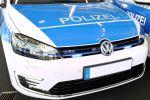 VW Volkswagen Golf GTE Polizei VII 7 Plug-in-Hybrid 1.4 TSI Turbo Benziner Elektromotor DSG Niedersachsen Front Polizeiauto
