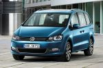 VW Volkswagen Sharan 2015 Facelift Familien Van TDI TSI 4MOTION Allrad DSG Front Assist ACC City-Notbremsfunktion EasyFold App Connect Internet Smartphone MirrorLink Android Auto CarPlay Front Seite