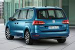 VW Volkswagen Sharan 2015 Facelift Familien Van TDI TSI 4MOTION Allrad DSG Front Assist ACC City-Notbremsfunktion EasyFold App Connect Internet Smartphone MirrorLink Android Auto CarPlay Heck Seite