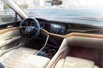 VW Volkswagen T-Prime Concept GTE Touareg III Oberklasse SUV Plug-in-Hybridantrieb 2.0 TSI Turbobenziner Elektromotor E-Maschine 4MOTION Allradantrieb Lithium Ionen Batterie Active Info Display digitale Instrumente Head Unit Curved Interaction Area Konnektivität Smartphone App Displays Tablet Internet Infotainment Interieur Innenraum Cockpit