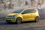 VW Volkswagen up! 2016 Kleinwagen Kleinstwagen 1.0 Dreizylinder TSI Turbobenziner Pure Air Composition Phone Infotainment Smartphone App BeatsAudio Soundanlage Front Seite