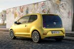 VW Volkswagen up! 2016 Kleinwagen Kleinstwagen 1.0 Dreizylinder TSI Turbobenziner Pure Air Composition Phone Infotainment Smartphone App BeatsAudio Soundanlage Heck Seite